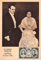 MONACO - Le Couple Princier Le 19 Avril 1956 - S.A.S. Le Prince Rainier III Et La Princesse Grace - Grace Kelly - Palacio Del Príncipe