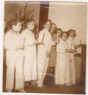 Ancienne Photo Sépia / Rethel - Saulce-Monclin (Enfants, Chant, Noël) / Fin Années 50 - Lieux