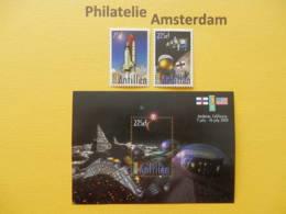 Netherlands Antilles 2000, SPACE RAUMFAHRT ESPACE RUIMTEVAART: Mi 1069-70, + Bl. 52, ** - Ruimtevaart