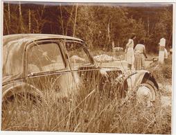 Ancienne Photo Sépia / Chaumont / Accident Voiture / Fin Années 50 - Orte
