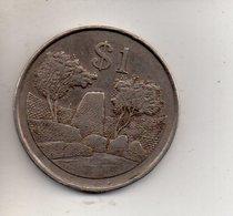 REF 1 : Monnaie Coin Zimbabwe 1 Dollar 1980 - Zimbabwe