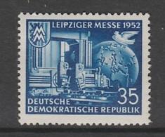 TIMBRE NEUF D'ALLEMAGNE ORIENTALE - FOIRE D'AUTOMNE DE LEIPZIG 1952 N° Y&T 68 - Timbres