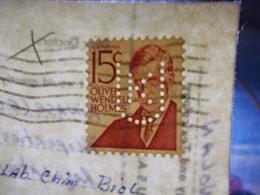 Marcophilie  Cachet Lettre Obliteration -  Perforé UK Sur Carte   - 1973 (2439) - United States