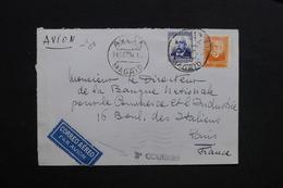 """ESPAGNE - Enveloppe De Madrid Par Avion Pour Paris En 1934 , Griffe """" 3 ème Courrier """" - L 28750 - 1931-50 Briefe U. Dokumente"""