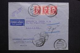 ESPAGNE - Enveloppe Commerciale De Melilla Par Avion Pour Paris En 1932- L 28751 - 1931-50 Covers