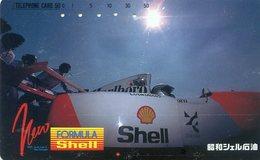 FORMULA SHELL - PETROLIER -TELECARTE JAPON  - VOITURE - AUTOMOBILE - CAR - Cars