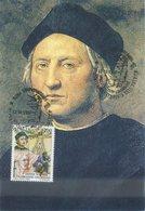 ITALIA - FDC MAXIMUM CARD 1992 - CELEBRAZIONI COLOMBIANE - RITRATTO DI COLOMBO - ANNULLO SPECIALE - Cartoline Maximum