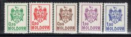 MOLDAVIE - N° 5/9 **  (1992) Armoiries - Moldavie