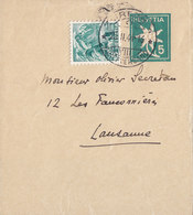 Switzerland Uprated Postal Stationery Ganzsache Entier Wrapper Strifband Bande Journal ZÜRICH 1944 LAUSANNE (2 Scans) - Entiers Postaux
