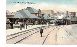 COBALT, Ontario, Canada, T. & N. O. Railway Station / Depot, Pre-1920 Postcard, Temiskaming County - Andere
