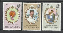 GAMBIE 1981 - ROYAL WEDDING - Gambia (1965-...)
