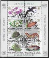 COREA DEL NORD - GIORNATA DELLA NATURA - FOGLIETTO USATO ( YVERT 2335/2340+PA - MICHEL KL 3346/3353) - Corea Del Nord