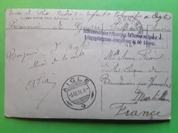 Carte AIGLE Pont D' Illarsaz Griffe INTERNEMENT Des PRISONNIERS DE GUERRE SUISSE 1916 > Ecole Laique Branderion Morbihan - Marcophilie (Lettres)