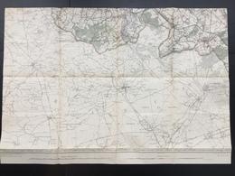 Topografische En Militaire Kaart STAFKAART 1908 Peruwelz St-Amand-les-Eaux Laplaigne Rongy Sartine La Glanerie Bleharies - Cartes Topographiques
