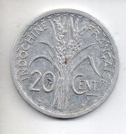 REF 1 : Monnaie Coin INDOCHINE 1945 B 20 Cent Centimes Alu - Vietnam