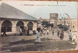 CPA, FREETOWN, Big Market Et Custom-House, écrite En Septembre 1914 - Sierra Leone