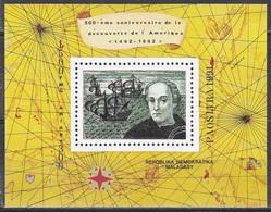 Madagaskar Madagascar Malagasy 1991 Geschichte History Entdeckungen Discovery Kolumbus Columbus Schiffe Maps, Bl. 165 ** - Madagaskar (1960-...)
