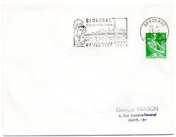 DORDOGNE - Dépt N° 24 = BERGERAC 1961 = FLAMME Illustrée D'une COIFFE = SECAP '44e FELIBREE' - Marcophilie (Lettres)