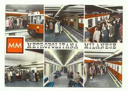 688 MILANO METROPOLITANA MILANESE 6 VEDUTE ANIMATA 1965 - Milano (Milan)