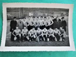 Cpa Photo - SAINT AMAND MONTROND Son équipe De RUGBY Vers 1930 - Photo MARCEL Rue Guimond  Saint Amand Cher - Saint-Amand-Montrond
