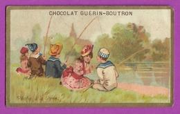 Chromo Image CHOCOLAT GUERIN BOUTRON -  La Pêche à La Ligne - Enfants - Guerin Boutron