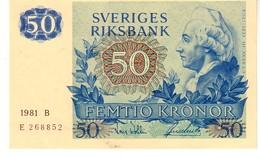 Sweden P,53   50 Kronor 1981 Unc - Svezia