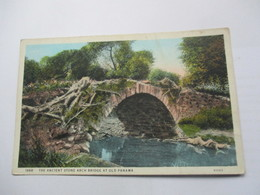 CP The Ancient Stone Arch Bridge At Old Panama - Panama