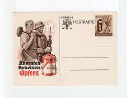 Postkarte Timbrée Propagande Kampfen Arbeiten Opfern. Timbre Winterhüfswerk Deutsches Reich. (2214x) - Germany