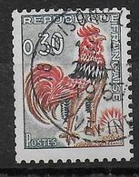 TYPE COQ DECARIS - ROULETTE AVEC NUMERO ROUGE - YVERT N°1331A OBLITERE 1967 - 1962-65 Cock Of Decaris