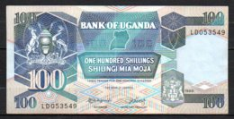 329-Ouganda Billet De 100 Shillings 1988 LD053 - Ouganda