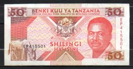 329-Tanzanie Billet De 50 Shillings 1993 EP415 - Tanzanie