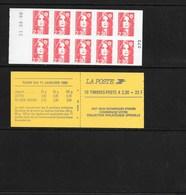 Carnet 2630-C2 Daté 21.8.91 Marianne De Briat 2,30 Rouge Jeux Olympiques - Carnets