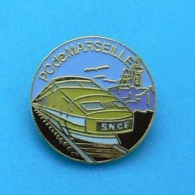 1 PIN'S //  ** TGV JAUNE / PC De MARSEILLE ** . (Rognac) - TGV
