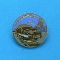 1 PIN'S //  ** TGV ORANGE / PC De MARSEILLE ** . (Rognac) - TGV