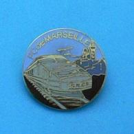 1 PIN'S //  ** TGV GRIS / PC De MARSEILLE ** . (Rognac) - TGV