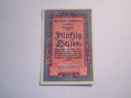 -1 Billet 50 HELLER 1920---LIECHTENSTEIN-- NON DATÉ--- - Liechtenstein
