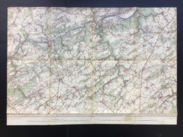 Topografische En Militaire Kaart STAFKAART 1906 Huy Andenne Wanze Stree Havelange Nandrin Ohey Modave Floree Gesves - Cartes Topographiques