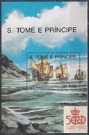 Sao Tome Und Principe 1991 Geschichte History Entdeckungen Disovery Kolumbus Columbus Schiffe Ships, Bl. 263 ** - Sao Tome Et Principe