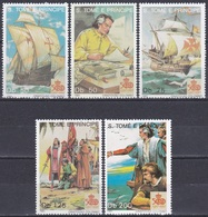 Sao Tome Und Principe 1991 Geschichte History Entdeckungen Disovery Kolumbus Columbus Schiffe Ships, Bl. 1274-9 ** - São Tomé Und Príncipe