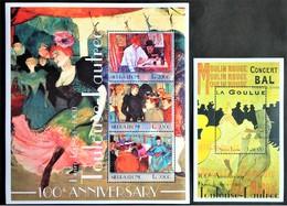 # Sierra Leone 2001** Mi. 4044-47 Art-Anri De Tuluz Lotrek, MNH [23,19A] - Andere