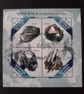 N° 1807 à 1810       Minéraux Des ïles Salomon  -  Oblitérés - Isole Salomone (1978-...)