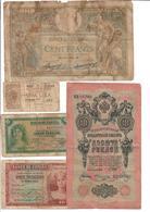 Europe Lot 9 Old Banknotes - Banknotes