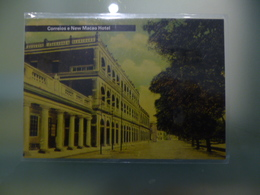 MACAU - POST CARD - CORREIOS E NEW MACAO HOTEL - Chine (Hong Kong)