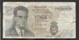 België Belgique Belgium 15 06 1964 -  20 Francs Atomium Baudouin. 3 Q 9500476 - [ 6] Treasury