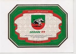 Autocollant Ou Etiquette Champagne  - Football SEDAN 99  A L'Occasion De La Montée De Sedan En 1ère Division - Autocollants