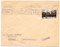 DORDOGNE - Dépt N° 24 = BERGERAC 1950 = FLAMME RBV '  FOIRE EXPOSITION ' - Postmark Collection (Covers)