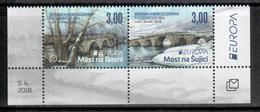 Bosnien-Herzegowina (kroatisch) / Bosnia-Herzegowina (croatian) / Bosnie-Herzégovine Mostar Paar/pair 2018 EUROPA ** - 2018