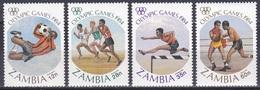 Sambia Zambia 1984 Sport Spiele Olympia Olympics IOC Los Angeles Fußball Football Soccer Athletics Boxen, Bl. 314-7 ** - Zambia (1965-...)