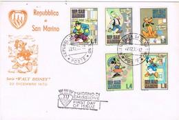 32601. Carta SAN MARINO 1970. Diseños Walt DISNEY - FDC