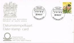 32602. Tarjeta BLOEMFONTEIN (Rep. South Africa) 1977. Vegetal Protea - Cartas